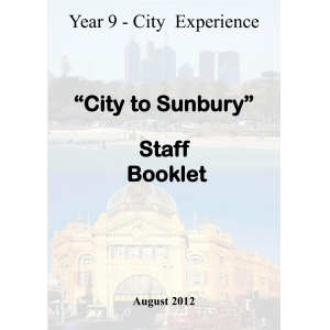 City 2 Sunbury -Student book