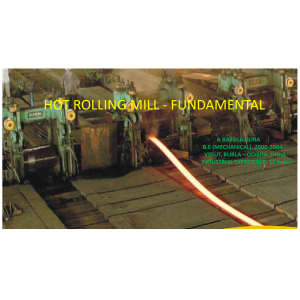 HOT ROLLING MILL - FUNDAMENTAL
