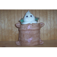 Ghost in Burlap Sack Cookie Jar - Worth $30.00