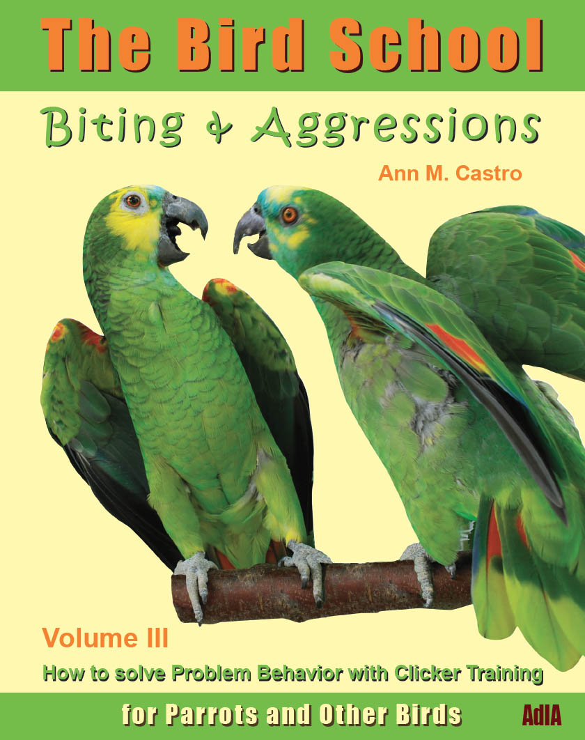 Biting & Aggression:How to Solve Problem Behavior with Clicker Training. The Bird School for Parrots and Other Birds.