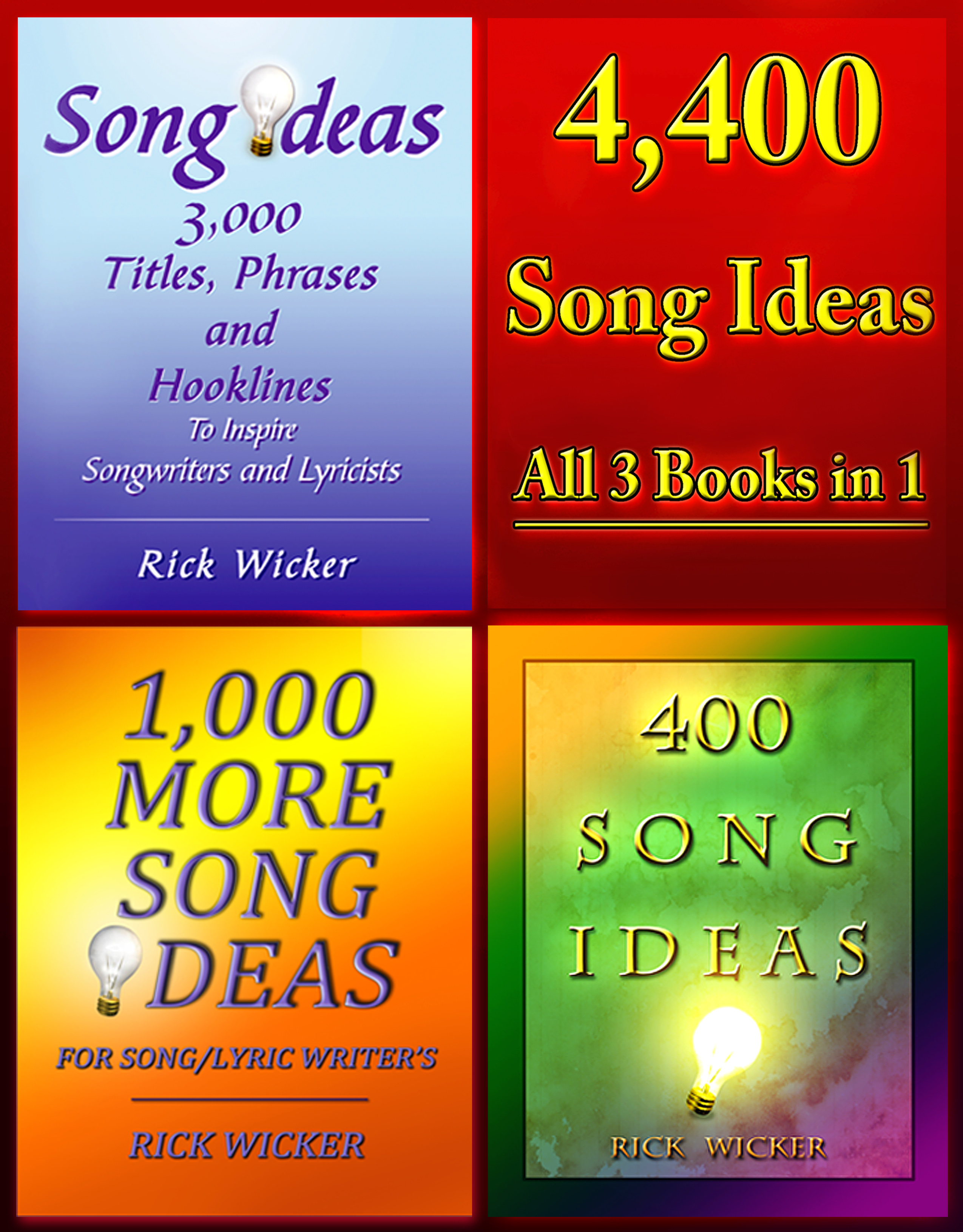 4,400 Song Ideas - All 3 Books in 1