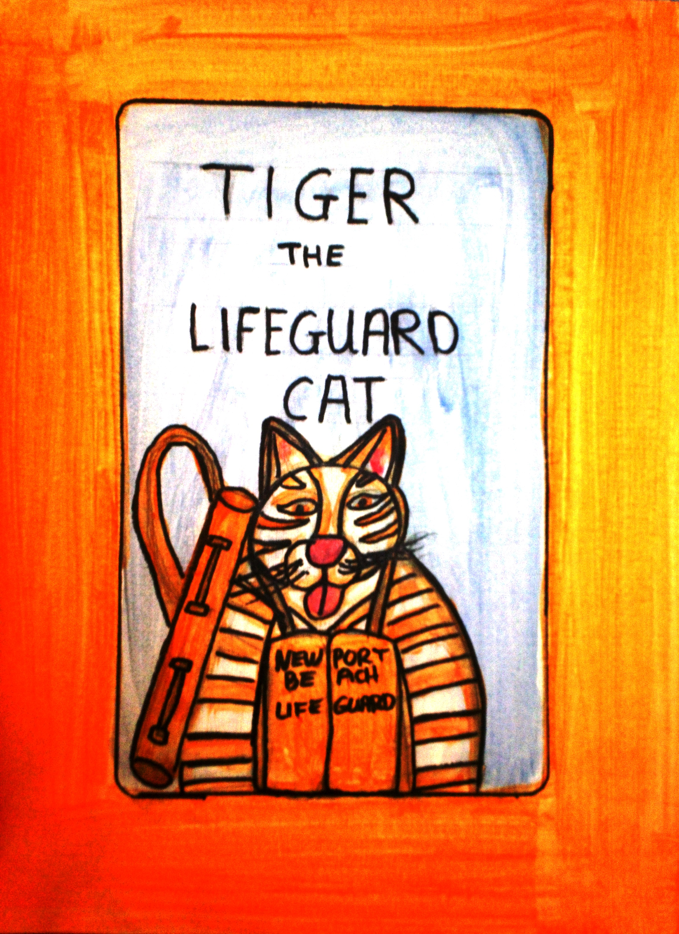 Tiger the Lifeguard Cat