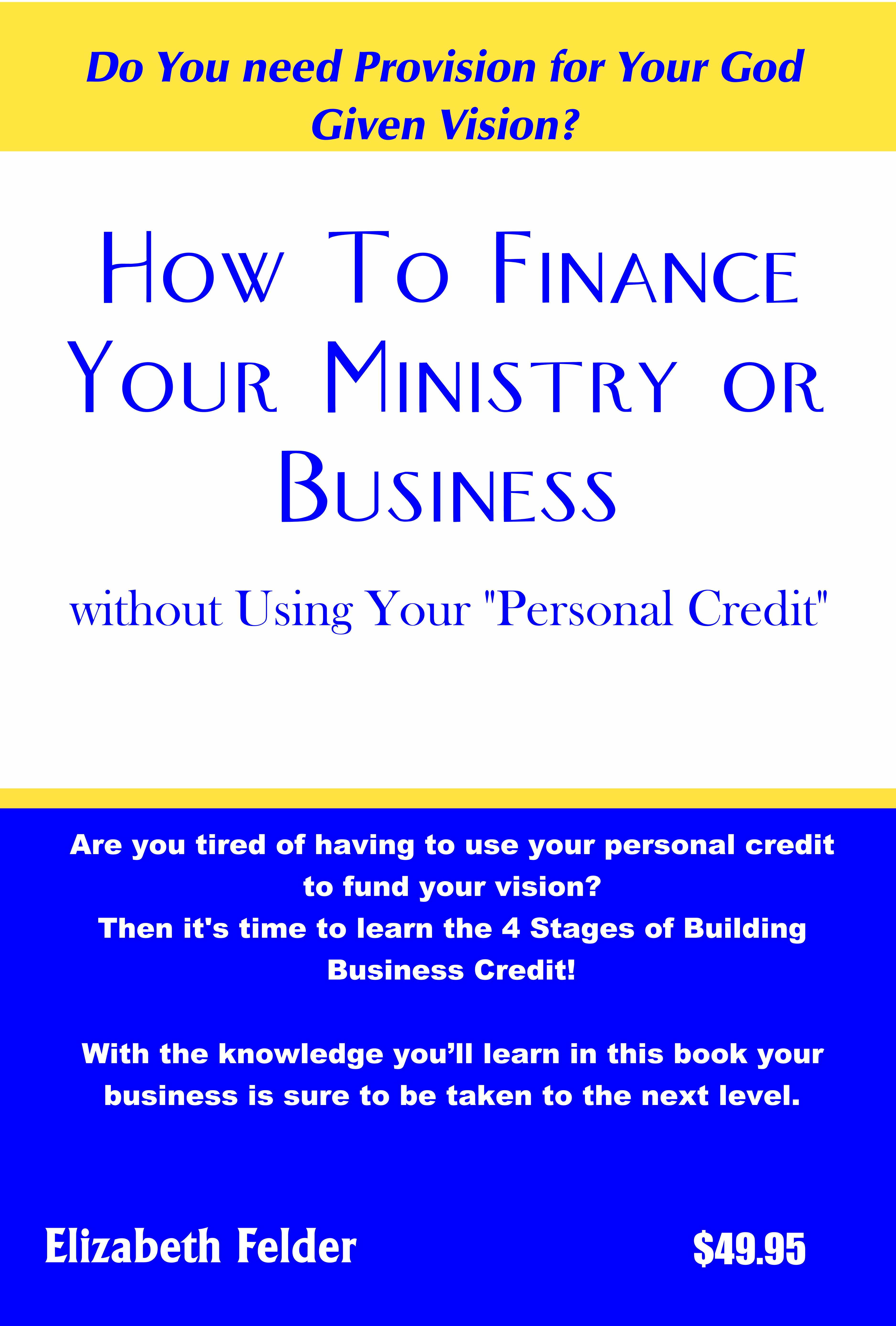 How to Finance Your Ministry or Business