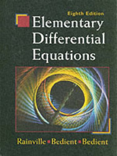 Elementary Differential Equations (8th Edition)